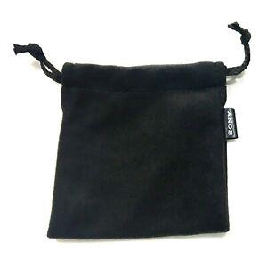 Genuine SONY Earphones Carry Pouch Earpiece Storage Pouch Bag Black