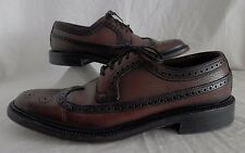Weyenberg Vtg 50's Wing Tip Shoes Burgundy Leather Oxfords Mad Men's 8B /Narrow