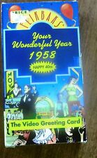 Video Greeting Card Flikbaks Your Wonderful Year 1958 'Happy 40th' (VHS)