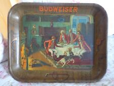 Vintage Budweiser After The Hunt Beer Tray