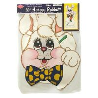 """Vintage Beistle Creation 30"""" Die Cut Harvey Bunny Jointed Rabbit New Old Stock"""