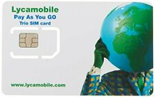 Lycamobile sim card 1GB data and unlimited international calling minutes valid