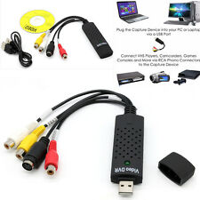 USB 2.0 interface to 3 RCA Female Phono S-VIDEO Output A/V Capture Cable Adapter