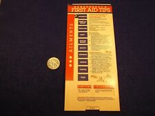 "#3 of 8, NEAT OLD VTG 1982 USA PAPER ""SLIDE RULE"" - ""EMERGENCY FIRST AID TIPS"""