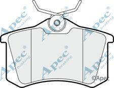 Pastillas de freno trasera para Audi TT PAD1020 Original APEC