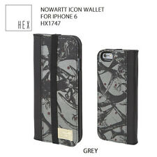 HEX Nowartt Icon Wallet Leather iPhone 6 iPhone 6s Case w/ID Card Slots Gray