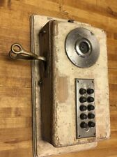 Antique DEVEAU 10 Apartment Button Call Box Intercom Telephone industrial