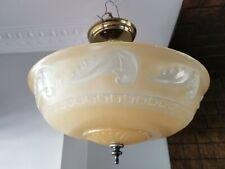 Amazing Art Deco Vintage Ceiling Lamp Fixture Glass Chandelier Light Wow 1930'