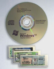 1 STICKER CLE LICENCE OFFICIELLE WINDOWS XP HOME FAMILIAL + CD INSTALL SP3 FR