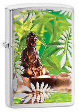 Zippo Lighter Buddha with Plants Buddhism Religion Candle New Orig. Packaging