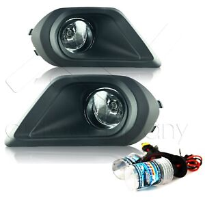 For 2014-2016 Subaru Forester Fog Lights w/HID Kit & Wiring Kit - Clear