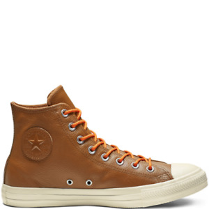 NIB Converse CTAS Hi Limo Leather Warm Tan/Orange Rind/Egret 163337C US Mens 11