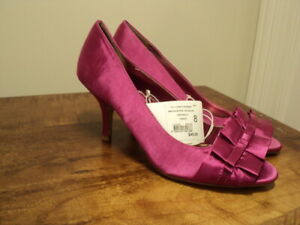 shoes satin stiletto pink 1950s glam