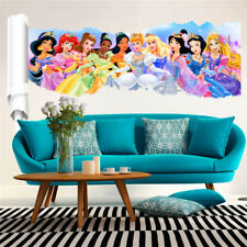 3D Princess Wall Stickers Decor Cartoon Wall Paper Decals Poster For Kids Rooms