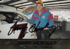 JIMMY HENSLEY AUTOGRAPHED 1994 ACTION PACKED RACING NASCAR PHOTO TRADING CARD