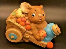 Vintage Pendelfin Rabbit Barrow Boy Hand Painted Made in England Easter Bunny