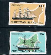 Christmas Is 1987 Cent.of visits by HMS SG 227/8 MNH