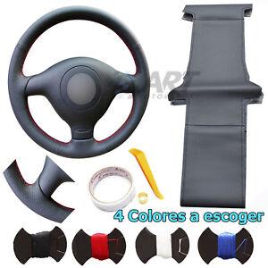 Funda de volante a medida para Seat León Toledo cuero liso + perforado