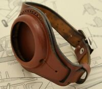 Steampunk antique WW1 NEW LEATHER STRAP BAND WRISTBAND FOR POCKET WATCH 45mm