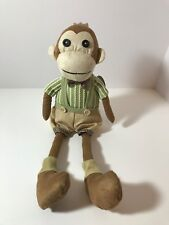 "Delton Products 14"" Boy Sitting Monkey Wearing Shorts w Bow Tie Stuffed Animals"