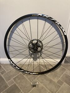 Mavic Aksium Disc Front Wheel 700c With XT Centre Lock Rotor And Qr Adapters