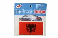 ALBANIA COUNTRY  FLAG BUMPER STICKER FLAG-TASTICK EMBLEM..SIZE: 3.5 X 2 INCH