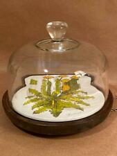 Vintage Goodwood Cheese Tray with Glass Cover Dandelion Plate Design w Box