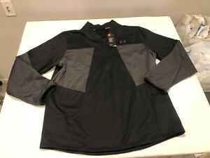 NWT $69.99 Under Armour Mens Coldgear Fleece 1/2 Zip LS Shirt Black Size 3XL