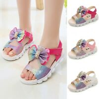 Summer Sandals Children Kids Baby Girls Bling Princess Hollow Sandals Shoes