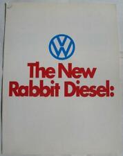 VOLKSWAGEN Rabbit Diesel Car Sales Brochure 1977 #33-17-76040 USA Print