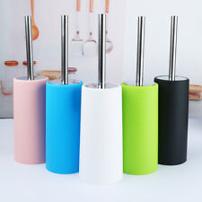 Silicone Toilet Brush and Holder,Stainless Steel Holder, Soft Bristles 360 Clean
