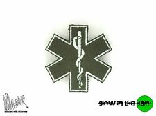 ill Gear STAR OF LIFE  MEDICAL PARAMEDIC HOOK & LOOP PATCH foliage green MEDIUM