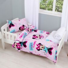 Disney Minnie Mouse 4 in 1 Bed Set, Duvet, Pillow, Duvet Cover and Pillowcase