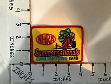 "EMBROIDERED 1978 NHRA SUMMERNATIONALS ENGLISHTOWN JACKET PATCH 3"" X 4"""