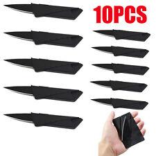 10PCS Folding Wallet Thin Credit Card Knives Pocket Survival Micro Knife Lot
