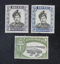 Ckstamps: Gb Stamps Collection Brunei Scott#108a 111a 112a Mint Nh Og