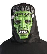 Black Hooded Green Monster Frankenstein Mask Halloween Costume Accessory Adult