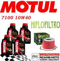 SUZUKI GS M Katana 550 1982 KIT TAGLIANDO 4 LT MOTUL 7100 10W40 + FILTRO OLIO