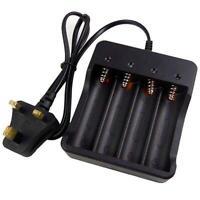 4 Slots 3.7v AU Plug Batteries 18650 Li-ion Rechargeable Batteries Smart Charger