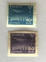 Sweden stamps 1930 air mail MH