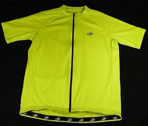Performance Dayglo Neon Green Safety Bicycle Bike Cycling JERSEY Men XL