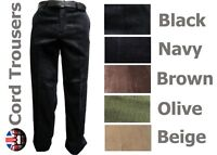 """Brand New Mens Cord Trousers Corduroy Cotton All Sizes 5 Colours 31"""" inside leg"""