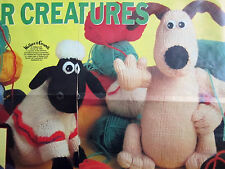 RARE ALAN DART TOY KNITTING PATTERN GROMIT & SHAUN SHEEP SOFT CHARACTER TOYS