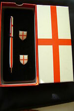 ENGLAND ST.GEORGE PEN AND CUFF LINKS SET  : BOXED UNUSED STOCK
