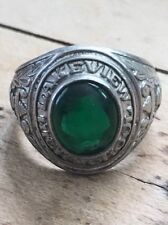 Vintage Sterling Lakeview High School Class Ring Decatur Chicago Illinois as is