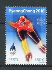 Estonia 2018 MNH Winter Olympics PyeongChang 1v Set Speed Skating Sports Stamps