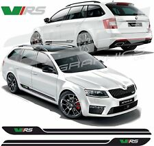 Skoda Octavia VRS side stripes decals stickers graphic any colours HEXIS Quality