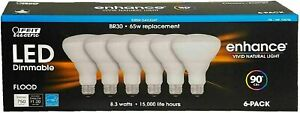 Feit LED Dimmable Enhance Flood Light 65W 8.3 Watts 6-Pk Daylight/Soft White