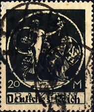 GERMANY - GERMANIA REICH - 1920 - Baviera soprastampati - Dea e Stemma, 20m nero