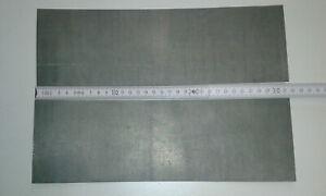 Reines Zinkblech 0,6 mm, 2 Stück 300 x 100 mm
